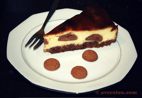 Pepernotencheesecake op www.overeten.com
