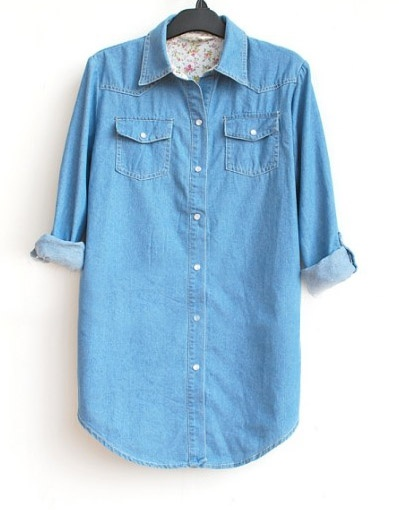 Blue Long Sleeve Denim