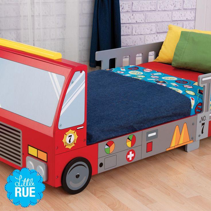 fire trucks boys 39 bedroom decor littlerue beds toddlerbed fire