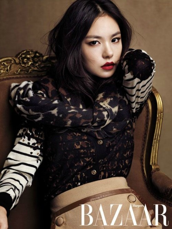 Min Hyo-rin autumn shoot for Bazaar [Love that red lipstick] #editorial #photography