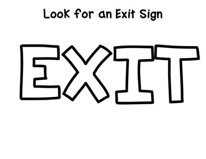 Preschool Fire Safety Booklet Printables Exit Sign Booklet