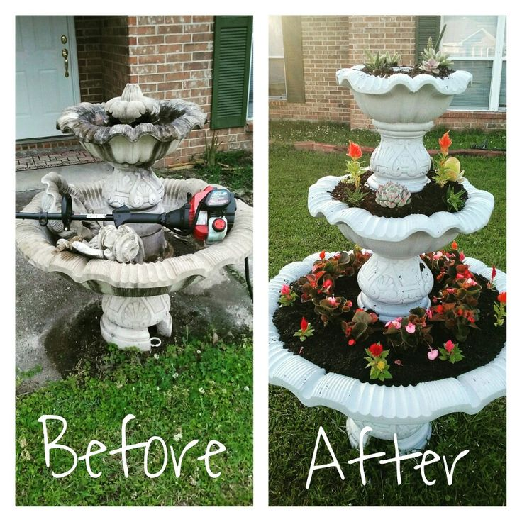 Old fountain makeover