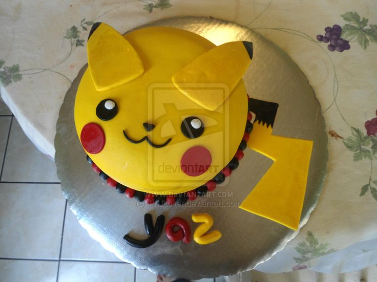 Pikachu Cake by PnJLover on deviantART