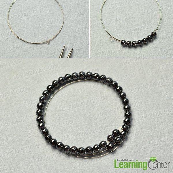 make the basic hematite beads part