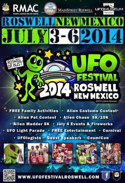 Roswell, Novo México UFO Festival, Julho 2014
