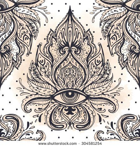 All seeing eye seamless pattern. Hand drawn vintage style pattern. Alchemy, spirituality, occultism, textiles art. Isolated vector illustration. Conspiracy theory.