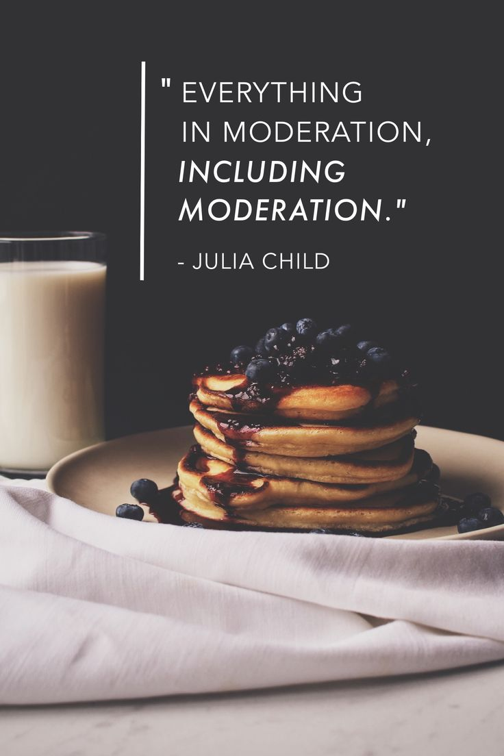 """Everything in moderation, including moderation."" - Julia Child #madeinover"