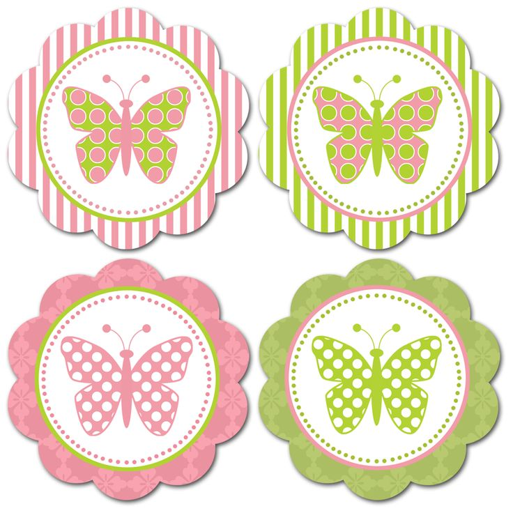 Free printable butterfly embellishments or make into tags
