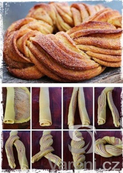 Recept Estonský kringel - skořicový věnec - Skořicový věnec