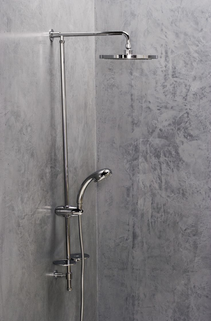 evans bath...polished concrete shower