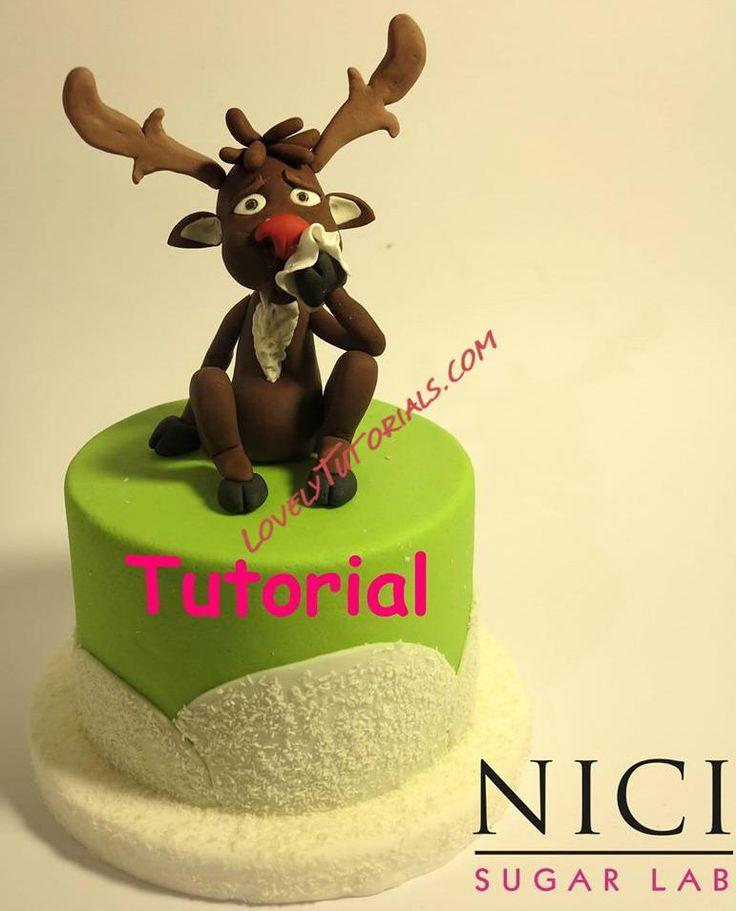 Gumpaste (fondant, polymer clay) christmas reindeer making tutorials