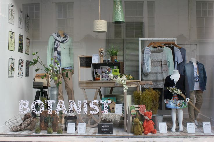 The Botanist 2015 - spring windows featuring our kids range from Mini McEwens