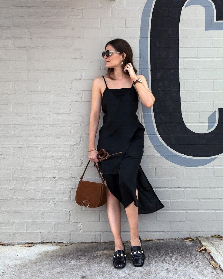 Black slip dress   See Instagram photos and videos from Style & Travel - Jenelle Witty (@inspiringwit)