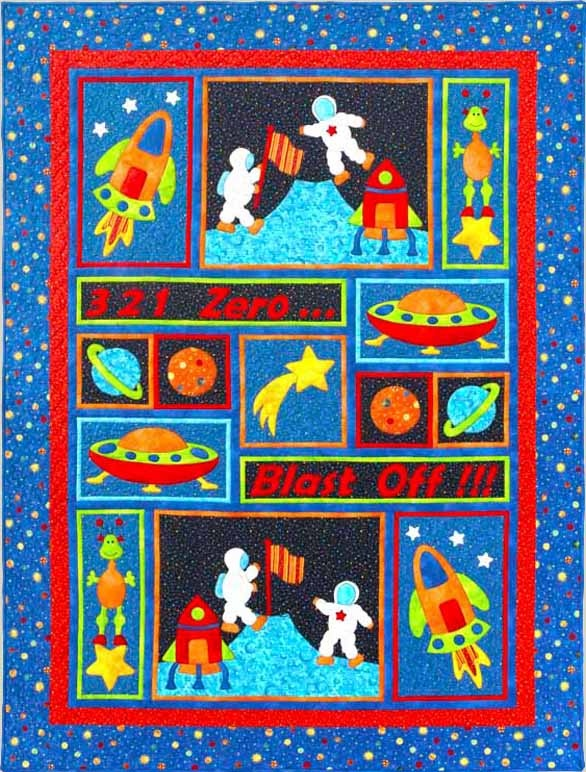 23 best rocket images on pinterest rocket ships quilt for Space fabric quilt