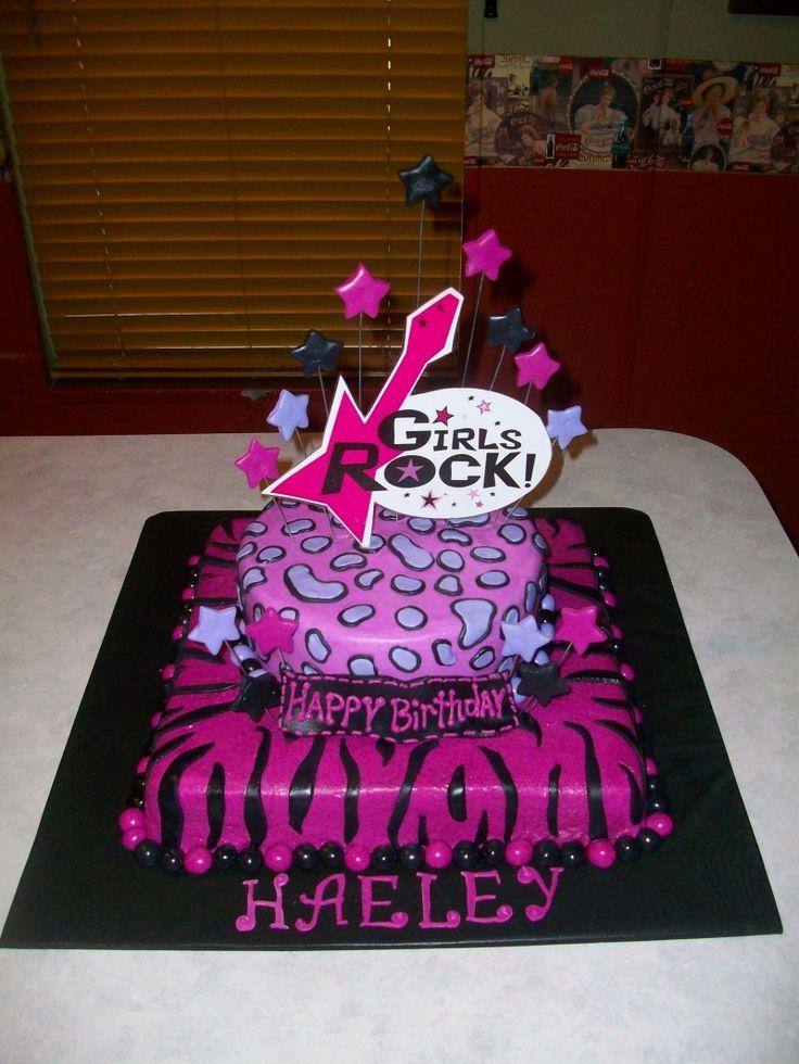 Girls Rock Star Cake Photos | Inspiration for a ROCK STAR Party *Girls Rock*