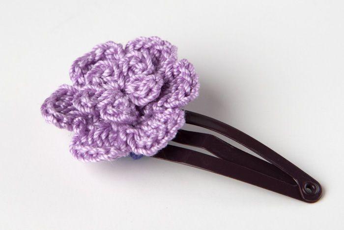 Crochet Hair Clip - Tutorial