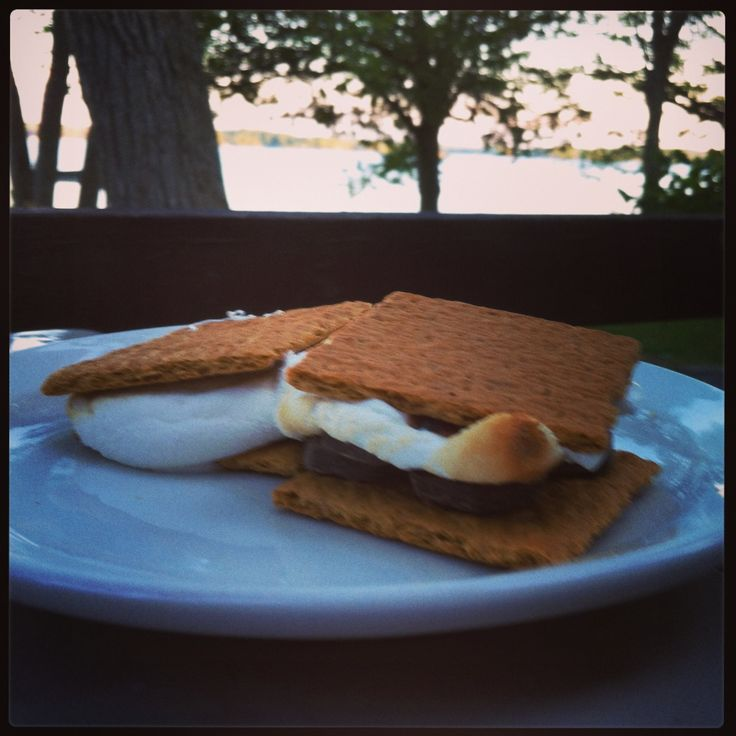 S'mores. Sunset. Lake. End of a great day at Viamede Resort.
