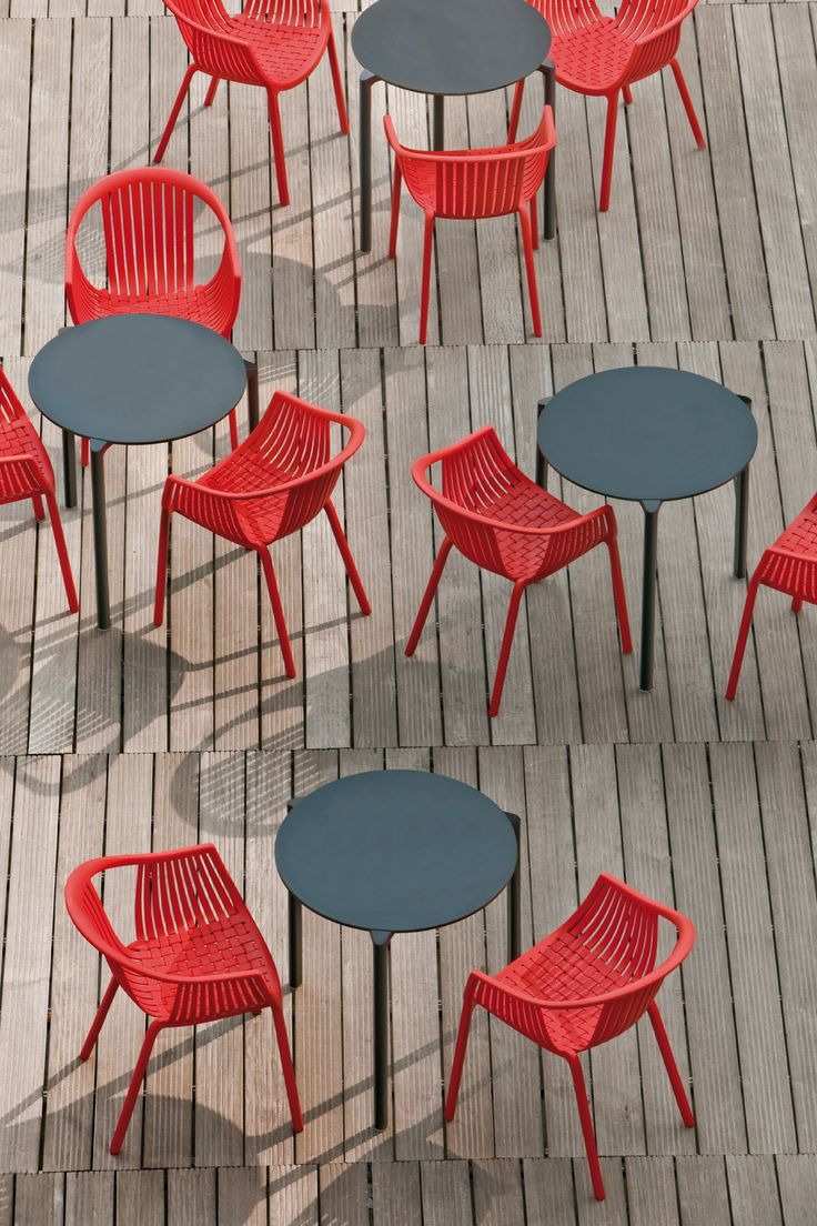 Outdoor cafe chairs - Tatami Red Outdoor Cafe Chairs Www Spaceist Co Uk