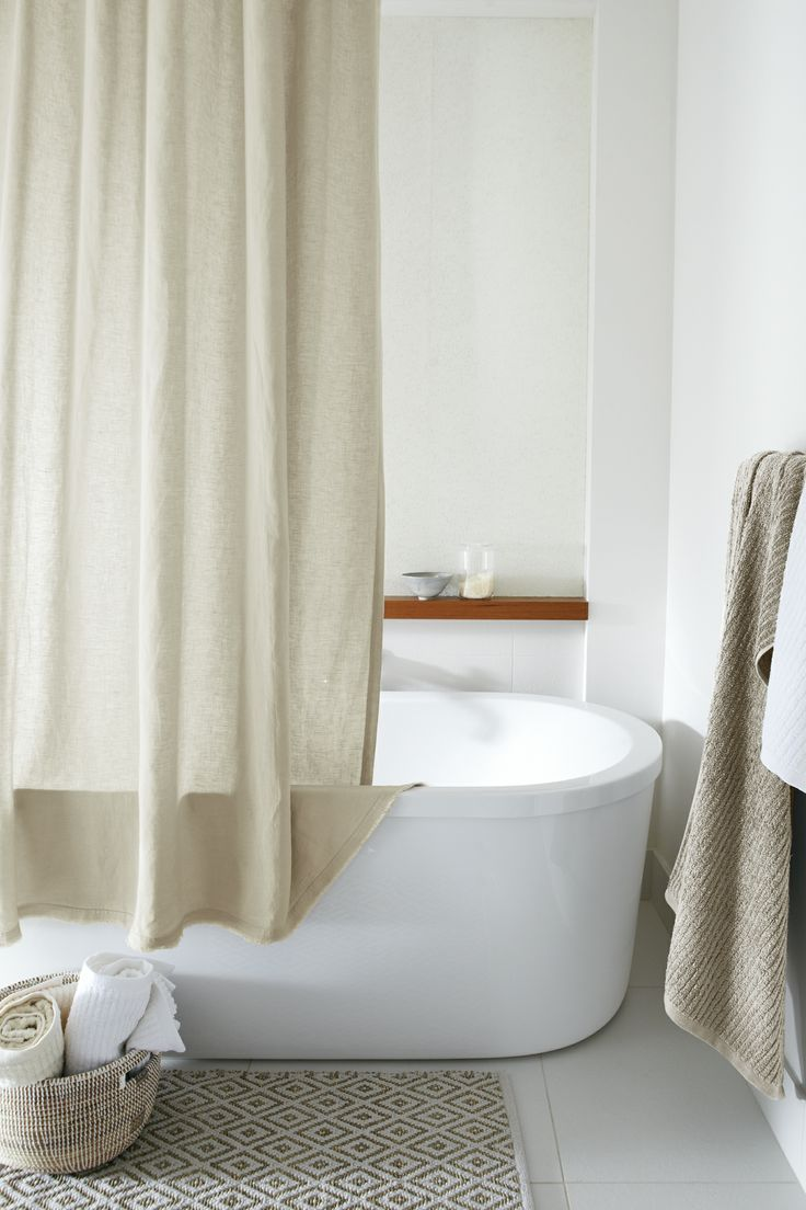 17 Best Images About No Plastic Shower Curtain On