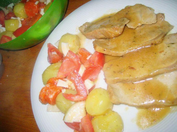 LAS RECETAS DE MAMA ROSA: Carne en salsa de cebollas y miel
