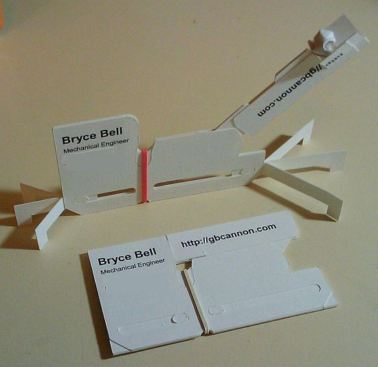 cardapult- catapult business card - so clever/awesome!