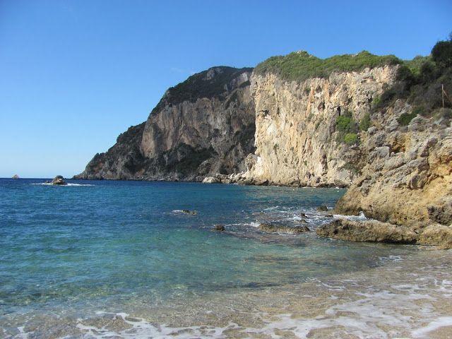 CORFU, GREECE - Paleokastritsa  beach  Check out the best beaches of Corfu!  #corfu #beach #bestbeaches