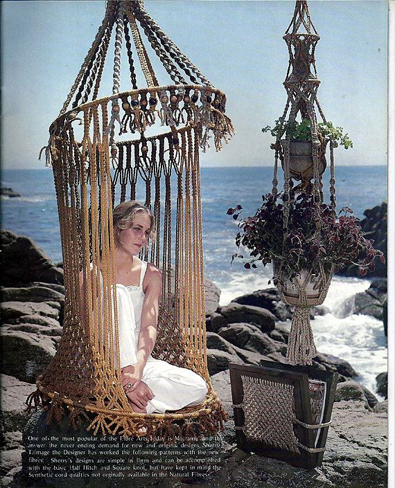 17 best images about cool hanging chairs on pinterest for Macrame hammock chair pattern