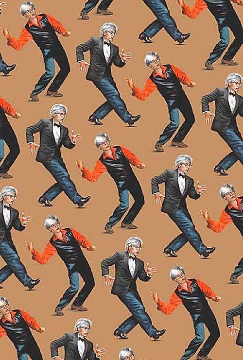 17 meilleures images propos de wallpaper sur pinterest hexagones tissus - Papier peint andy warhol ...