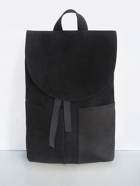 Mum & Co #black #leather #backpack                              …