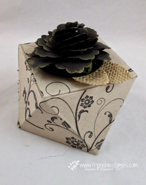 Stamp & Scrap with Frenchie: Pootles Faceted Box