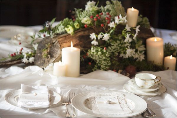 CLASSIC CROCKERY A Winter's Tale - a warm winter wedding ideas shoot from Hampden House in Buckinghamshire