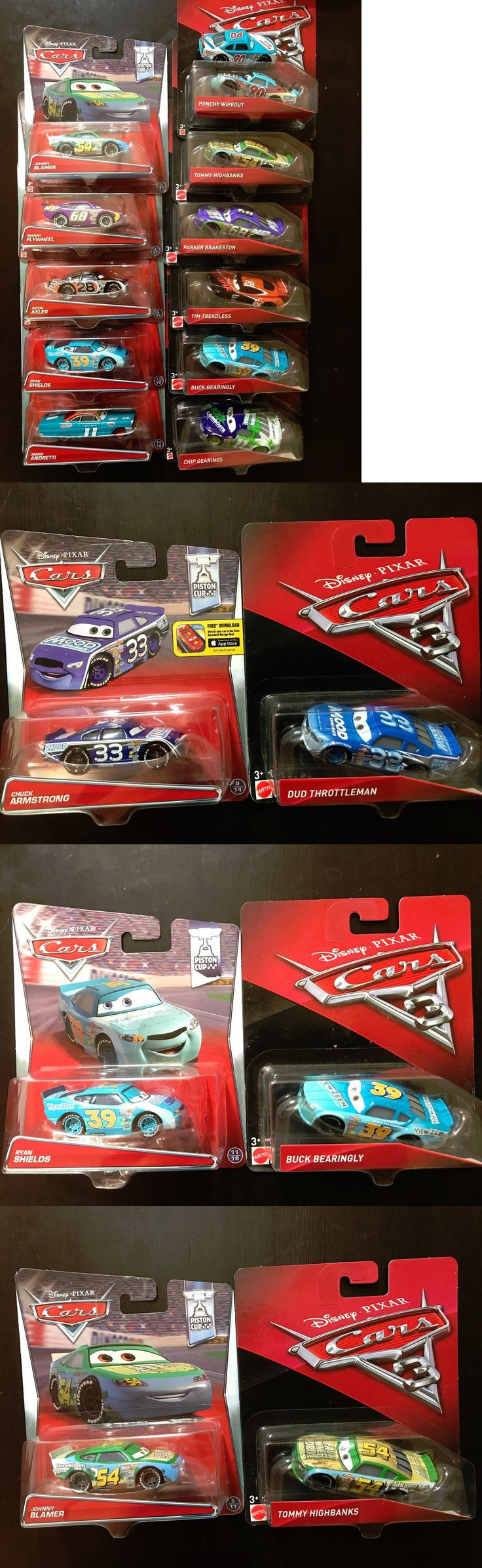 Mattel disney pixar cars 3 piston cup racers cars 1 to cars 3 visual - Cars 142316 Disney Pixar Cars 3 Piston Cup Racers Vs Cars 1 Racers Lot Vhtf