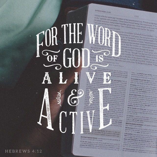 Hebrews 4:12, New American Standard Bible (NASB) http://bible.com/100/heb.4.12.nasb