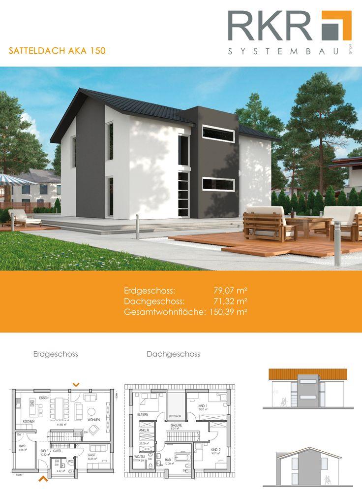 Ein Modernes Haus Mit Satteldach? Kein Problem! Es Wartet Auf Sie Ein  Riesiger Wohnbereich