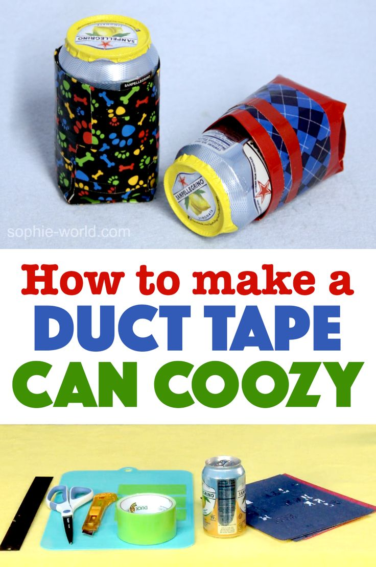 Keep that soda can sweat off your hands and personalize your drinks for  parties! DIY  Duck Tape CraftsSophie's ...