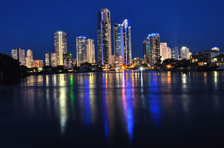 A slow release shot of the Surfers Paradise skyline from Evandale