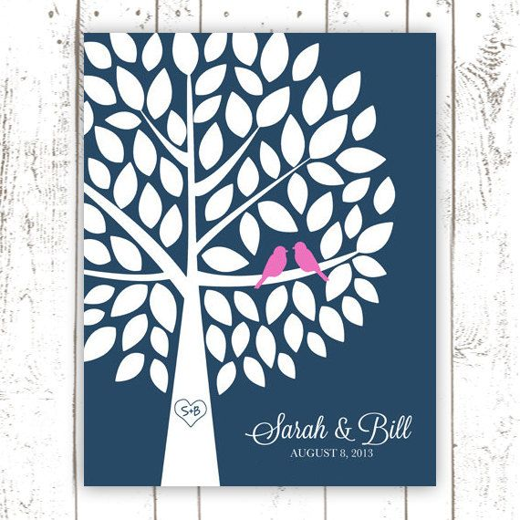 Guest Book Wedding Guest Book Alternative by MooseberryPaperCo