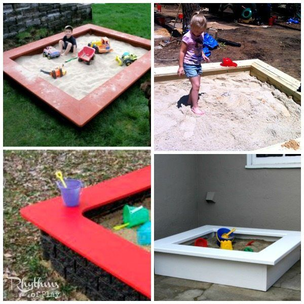 Best Sandbox Ideas For Kids Sandbox Kids Sandbox Backyard