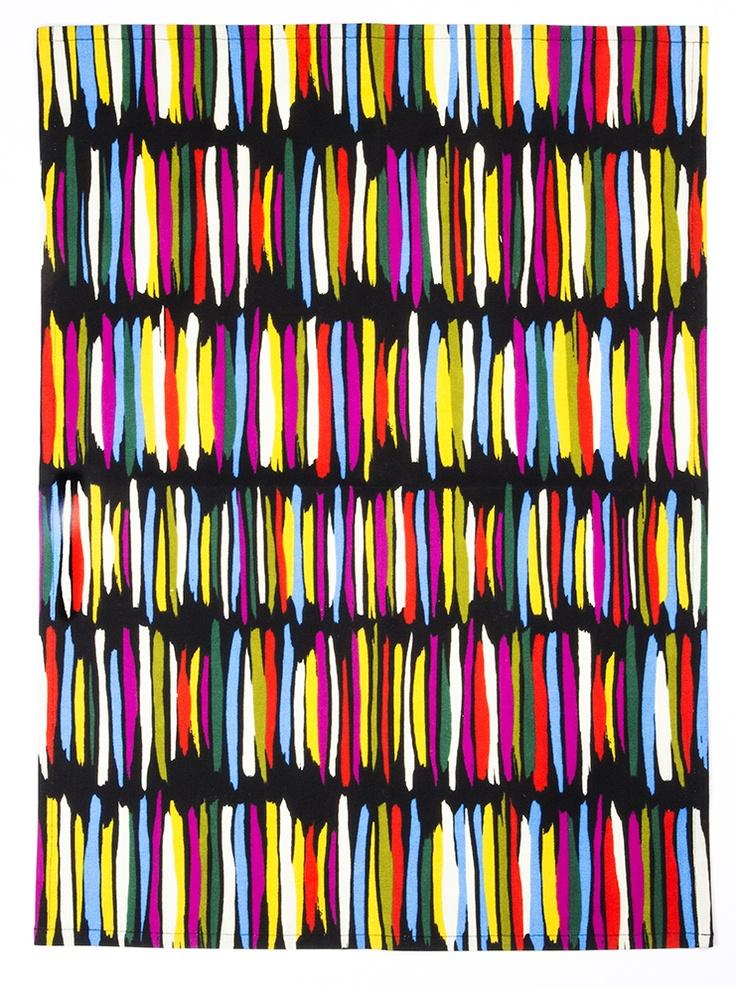 Rytmi kitchen towel. Design Saara Eklund