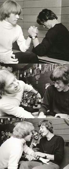 Brian Jones and Mick Jagger