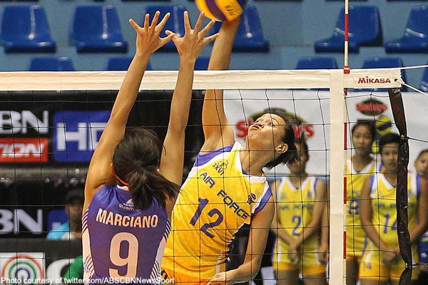 The Philippine Air Force shut down early favorites Bali Pure in four sets, 25-23, 14-25, 25-19, 25-16, during their debut game in the Shakey's V-League Open Conference, Monday.