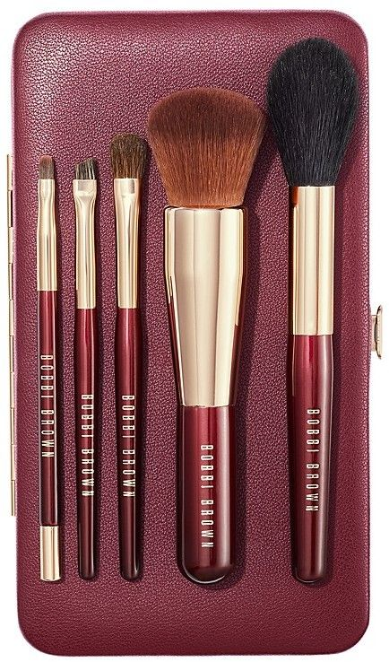 These brush sets are super for travel, but those short handles are also great for those of us who need to get closer to the mirror when we apply our makeup!  #giftsforher #travelgifts #beautygifts
