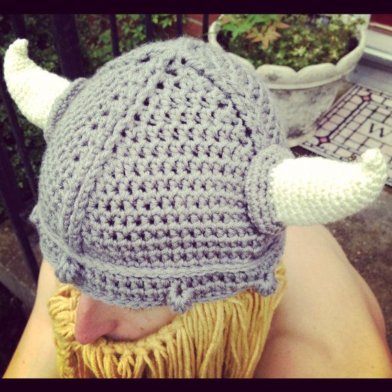 Crochet Viking Hat With Beard : Crochet Viking hat with Beard Adult by ButterPieCreations on Etsy, $49 ...