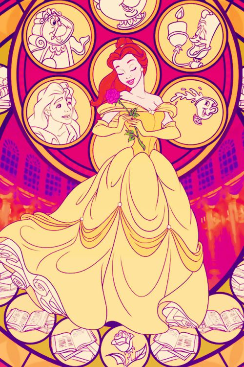 "disneytasthic: "" Disney Princess stained glass iphone backgrounds part 1: original source art by """