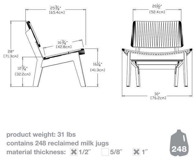 Лаго стул, яблоко красное современные стулья на открытом воздухе