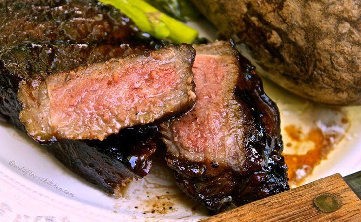 Garlic Balsamic Brown Sugar Steaks