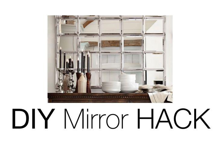 DIY Beveled Mirror | Pottery Barn Mirror HACK!