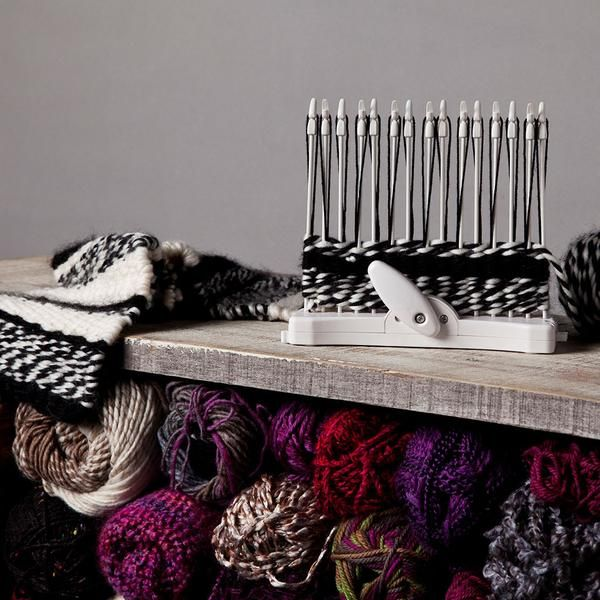 The Loop-de-loom is much faster than crocheting or knitting and it's easy to set up and use. There's no learning curve, either. While you're on our site, check out our ideas that'll show you how you—and your loom—can take home decor and clothing to a whole new level.