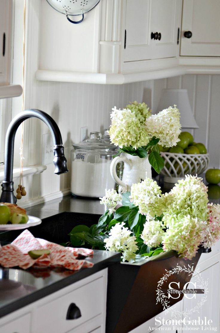 farmhouse style-sink-stonegableblog.com love the front slope of this sink