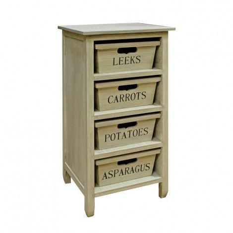 4 Drawer Vegetable Cabinet available on Wysada.com
